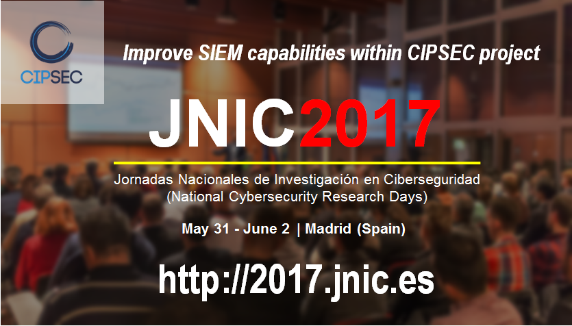CIPSEC will be at JNIC2017