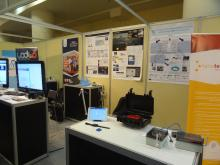 CIPSEC project poster on UoP stand at PatrasIQ